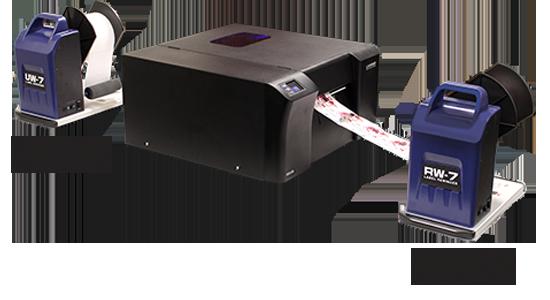 RW-7 Label Rewinder and UW-7 Label Unwinder for LX-Series Label Printer