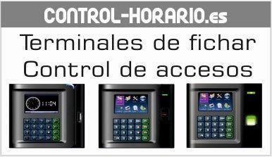Terminales de Control Horario laboral - Terminales de Control de Accesos - Relojes de fichar - Reloj