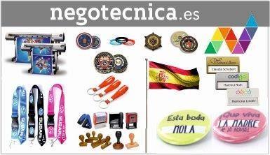 Chapas, medallas, pines, lanyards: NEGOTECNICA.es